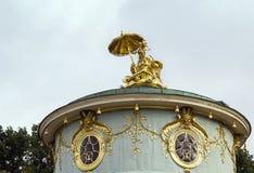 Beeldhouwwerk van Chinees Huis, Potsdam, Duitsland stock foto's