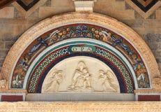 Beeldhouwwerk van Dame Mary, Kathedraal van Pisa, Italië Stock Fotografie