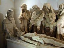 Beeldhouwwerk van de Begrafenis van Christus royalty-vrije stock foto's