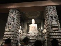 Beeldhouwwerk van de culturele overblijfselen van het Provinciale de Geschiedenismuseum van Shaanxi stock foto