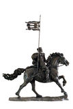 Beeldhouwwerk van de middeleeuwse militair op een paard Royalty-vrije Stock Afbeelding