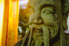Beeldhouwwerk van de steen het Thais-Chinese stijl in de tempel van Wat Phra Chetupon Vimolmangklararm Wat Pho, Thailand Royalty-vrije Stock Fotografie