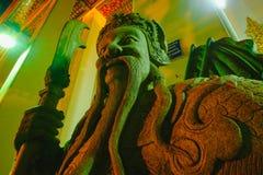 Beeldhouwwerk van de steen het Thais-Chinese stijl in de tempel van Wat Phra Chetupon Vimolmangklararm Wat Pho, Thailand Stock Foto