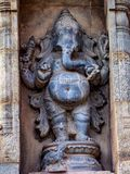 Beeldhouwwerk van de Tanjore het Grote Tempel - Ganapathi stock afbeeldingen