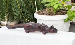 Beeldhouwwerk van een kat, jaguar Royalty-vrije Stock Afbeeldingen