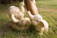 Beeldhouwwerk van een olifant Royalty-vrije Stock Afbeeldingen