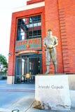 Beeldhouwwerk van een vroegere speler van San Francisco Giants royalty-vrije stock foto
