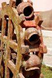 Beeldhouwwerk van een waterwiel Stock Foto