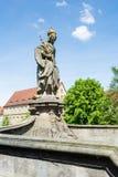 Beeldhouwwerk van Heilige Kunigunde in Bamberg Royalty-vrije Stock Foto