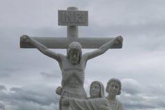 Beeldhouwwerk van het leven en de dood van Jesus Christ ` s Stock Fotografie