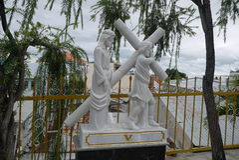 Beeldhouwwerk van het leven en de dood van Jesus Christ ` s Royalty-vrije Stock Fotografie