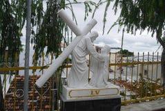 Beeldhouwwerk van het leven en de dood van Jesus Christ ` s Royalty-vrije Stock Foto