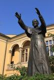 Beeldhouwwerk van John Paul II stock afbeeldingen