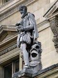 Beeldhouwwerk van Malherbe bij Louvre, Parijs, Frankrijk Royalty-vrije Stock Foto's
