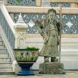 Beeldhouwwerk van mythologische beschermer Stock Afbeeldingen