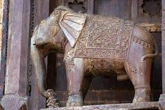 Beeldhouwwerk van olifant in Indische stad Orchha Royalty-vrije Stock Fotografie