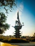 Beeldhouwwerk van Peter First in het park van Gorky royalty-vrije stock foto