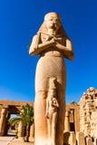 Beeldhouwwerk van Ramesses II in Karnak-Tempel, Luxor, Egypte stock foto