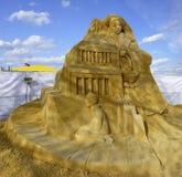 Beeldhouwwerk van zand Stock Afbeeldingen