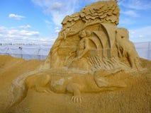 Beeldhouwwerk van zand Royalty-vrije Stock Afbeelding