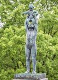 Beeldhouwwerk in Vigeland-park Oslo noorwegen Royalty-vrije Stock Afbeeldingen