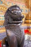 Beeldhouwwerk in Wat Phra Kaeo Royalty-vrije Stock Foto