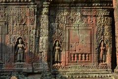 Beeldhouwwerken in Angkor Wat Royalty-vrije Stock Foto