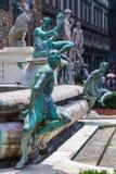 Beeldhouwwerken bij het Standbeeld van Neptunus in Florence royalty-vrije stock foto's