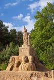Beeldhouwwerken die van zand worden gemaakt Stock Afbeelding