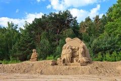 Beeldhouwwerken die van zand worden gemaakt Royalty-vrije Stock Afbeeldingen