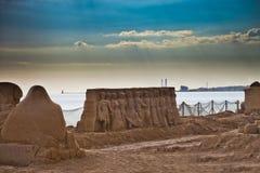 Beeldhouwwerken die van zand worden gemaakt Royalty-vrije Stock Fotografie