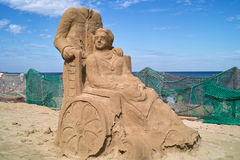 Beeldhouwwerken die van zand worden gemaakt. Royalty-vrije Stock Fotografie