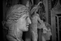 Beeldhouwwerken in Galleria Borghese Stock Foto's