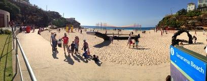 Beeldhouwwerken op het strand in Tamarama Stock Afbeelding