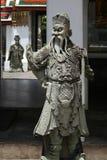 Beeldhouwwerken van Chinese strijders Stock Foto's
