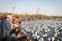 1.600 beeldhouwwerken van het panda'spapier-maché zullen in Bangkok worden tentoongesteld Royalty-vrije Stock Foto