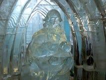 Beeldhouwwerken van ijs - Hoge Tatras worden gemaakt - Slowakije dat Stock Afbeelding