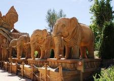 Beeldhouwwerken van olifanten royalty-vrije stock foto's