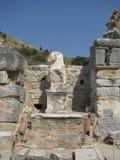 Beeldhouwwerkruïnes in Ephesus Royalty-vrije Stock Foto's