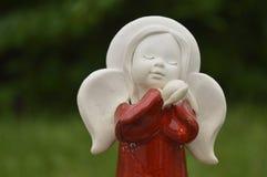 Beeldje, beeldje: mooie engel Stock Afbeeldingen