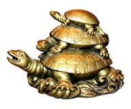 Beeldje Drie schildpadden Royalty-vrije Stock Afbeelding