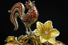 Beeldje - Haan van het goud royalty-vrije stock foto