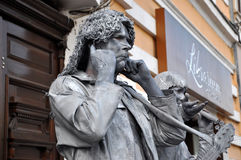 Beeldje Living Statues the World Champions of Living Statues Royalty Free Stock Photos