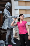 Beeldje Living Statues the World Champions of Living Statues Stock Photography