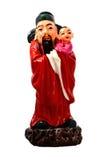 Beeldje van Chinese deities Stock Foto's