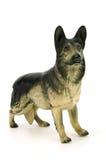 Beeldje van hond, Duitse herder stock afbeelding