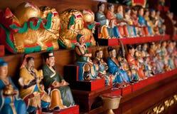 Beeldjes in een Chinese tempel Stock Foto's