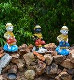 Beeldjes gekleurde apen Stock Foto