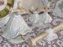 Beeldjes van ballerina's en dansende meisjes Royalty-vrije Stock Foto