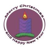 Beeldkaarsen op Kerstmis en Nieuwjaar Stock Afbeeldingen